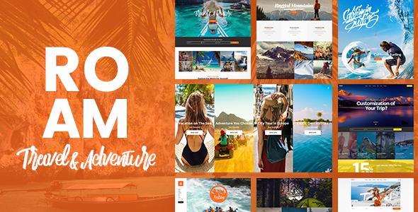 Roam Travel and Tourism WordPress Theme